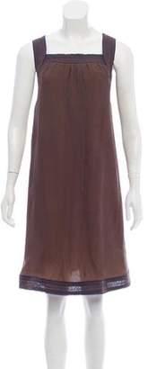 Cacharel Sleeveless Knee-Length Crepe Dress