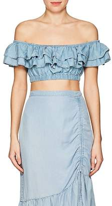 Suboo Women's Stand Still Chambray Crop Top