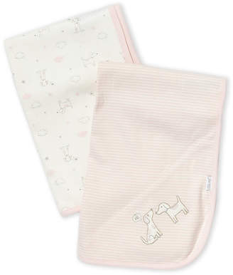 Little Me Newborn Girls) Two-Pack Puppy Love Swaddle Blankets