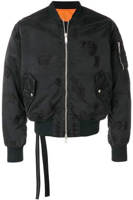 Unravel Project distressed basic bomber jacket