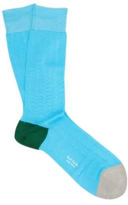Paul Smith Colour Block Cotton Blend Socks - Mens - Blue