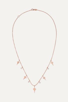 Diane Kordas Shield 18-karat Rose Gold Diamond Necklace