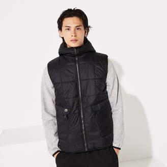 Lacoste Men's SPORT Hooded Reversible Dual-Tone Jacket