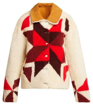 Isabel Marant Adil Reversible Shearling Jacket - Womens - Ivory
