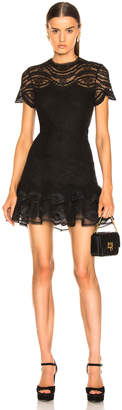 Jonathan Simkhai Lace Cap Sleeve Mini Dress in Black | FWRD