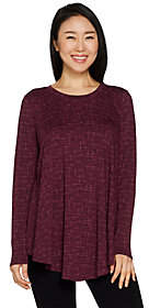 Anybody AnyBody Loungewear Cozy Knit Swing Top