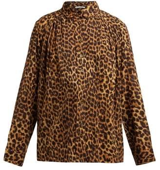 Mes Demoiselles Feline Leopard Print Cotton Blouse - Womens - Leopard