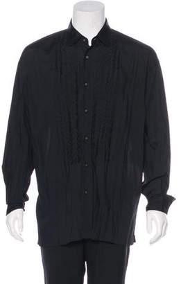 Issey Miyake Ruffle-Accented Woven Shirt