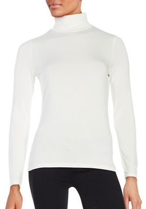 Lord & Taylor Long Sleeve Turtleneck Top $48 thestylecure.com