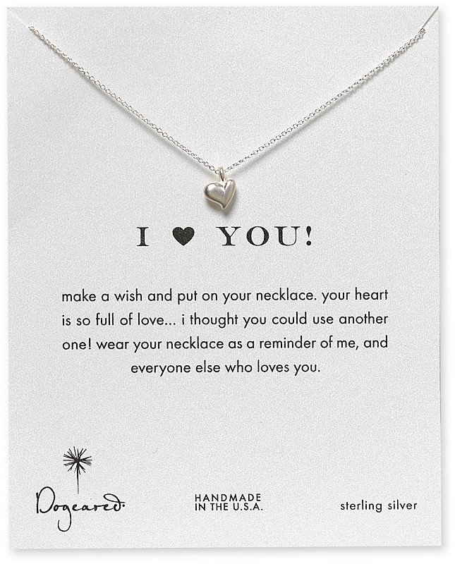 """Dogeared I Love You Heart Necklace, 18"""""""