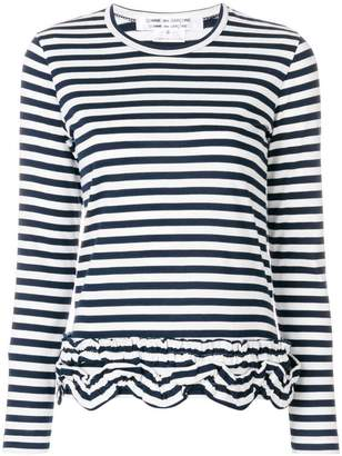Comme des Garcons gathered striped T-shirt