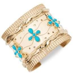 Aurelie Bidermann Cheyenne Turquoise Cuff Bracelet
