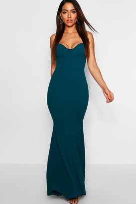 a5c72852b5d90 boohoo Bustier Detail Fishtail Maxi Dress