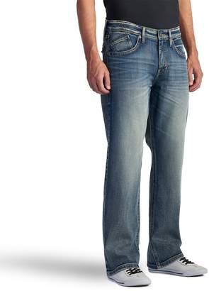 Rock & Republic Men's Worn Out Stretch Straight-Leg Basic Jeans