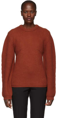 Chloe Orange Cashmere Crewneck Sweater