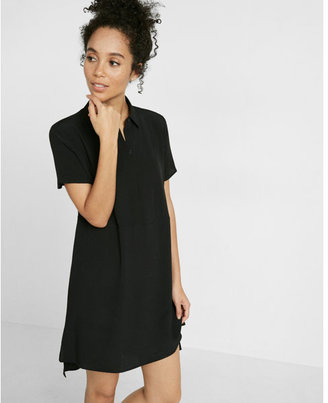 Express short sleeve shirt dress $59.90 thestylecure.com