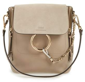 Chloé Small Faye Suede & Leather Backpack