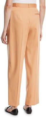 The Row High-Waist Straight-Leg Wool Pants