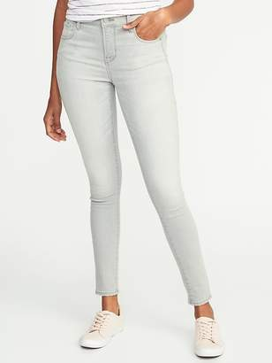 Old Navy Mid-Rise Built-In Sculpt Gray Rockstar Jeans for Women