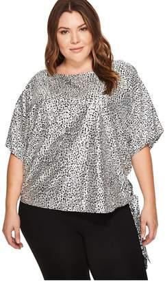 MICHAEL Michael Kors Size Leopard Tie Top Women's Clothing