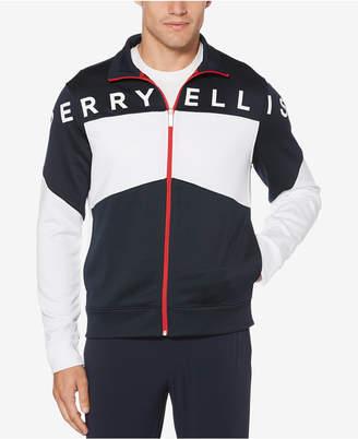 Perry Ellis Men's Colorblocked Zip-Front Jacket
