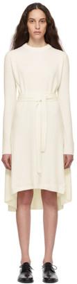 Helmut Lang Off-White Cashmere Knit Dress