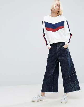 Asos DESIGN Denim Skater Pants with Pocket Detail