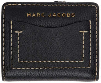 Marc Jacobs Black and Red The Grind Compact Wallet