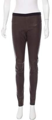 Neil Barrett Mid-Rise Leather Pants