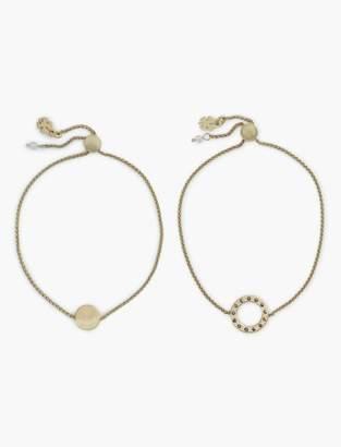 Gold Circle Best Friends Bracelet Set