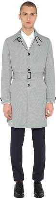 Prada Nylon Check Trench Coat