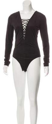 Alexander Wang Long Sleeve V-Neck Bodysuit w/ Tags