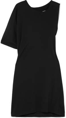 MM6 MAISON MARGIELA Asymmetric Twist Cotton-jersey T-shirt Dress - Black