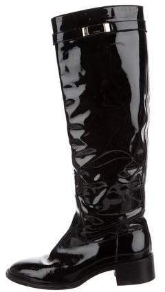 Fendi Patent Leather Knee-High Boots