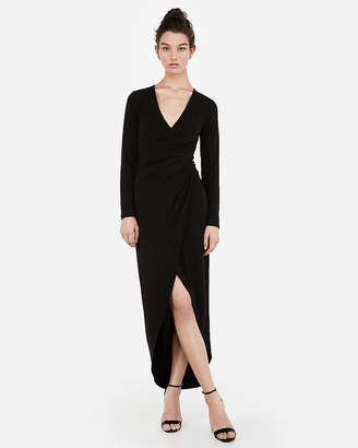 Express Plunging Hi-Lo Maxi Dress