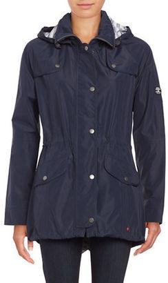 Barbour Trevose Zip-Front Rain Coat $349 thestylecure.com