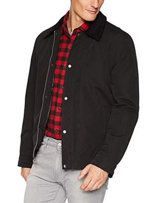 Cole Haan Men's City RAIN BARN Jacket with Corduroy Collar