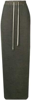Rick Owens long drawstring skirt