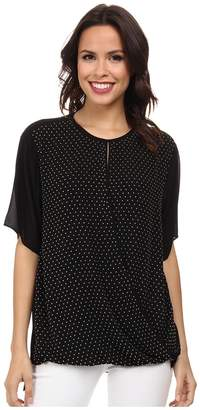MICHAEL Michael Kors Studded Crossbody Top Women's Short Sleeve Pullover