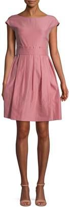 Max Mara Garage Cotton Silk Blend Fit--Flare Dress