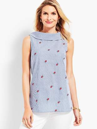 Talbots Ladybug Stripe Sleeveless Top
