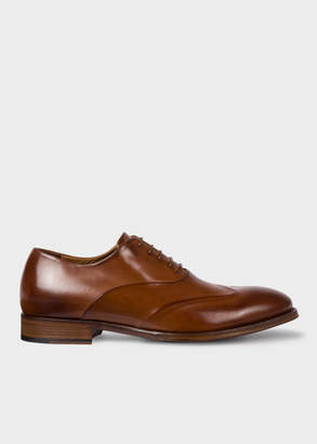 Paul Smith Men's Tan Calf Leather 'Lomax' Oxford Shoes