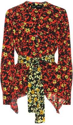 Proenza Schouler Floral-printed georgette shirt