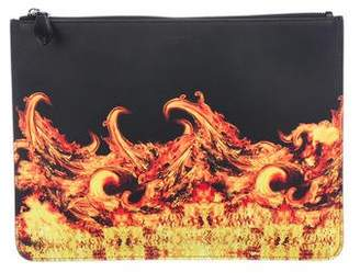 Givenchy Fire-Printed Clutch