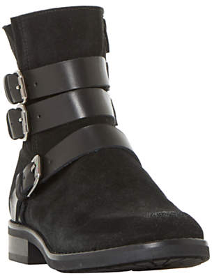 Bertie Pennyford Buckle Ankle Boots, Black