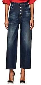 MM6 MAISON MARGIELA Women's High-Rise Tapered Wide-Leg Jeans-Blue