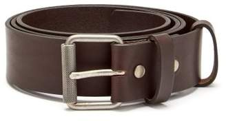 A.P.C. Virgile Leather Belt - Mens - Dark Brown