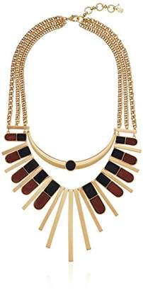Lucky Brand Womens Wood Statement Necklace