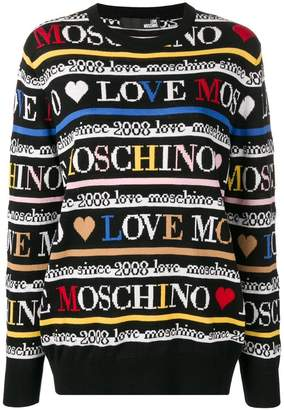 Love Moschino all over logo jumper
