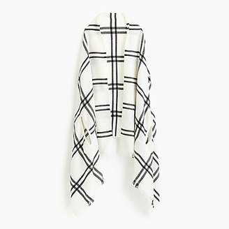 J.Crew Cape-scarf in windowpane